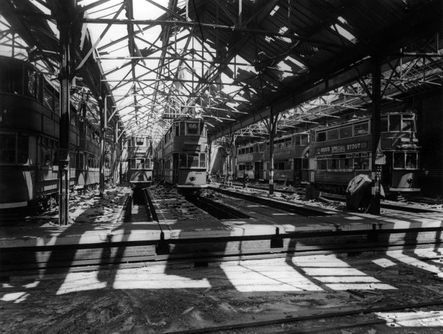 Cambertwell Tram Depot Bombed