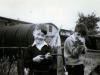 me & phillip ramsay in the back garden of my Prefab at 198 Underhill road