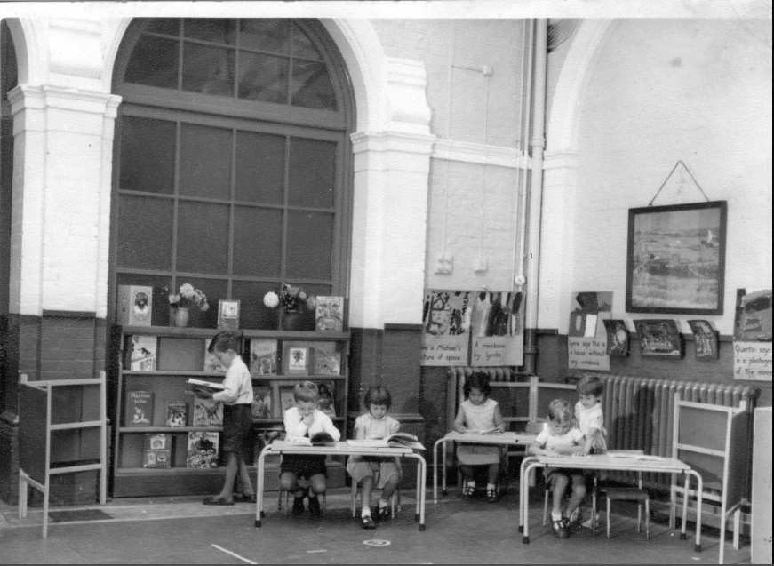 Heber Road infants, newly created library in the hall