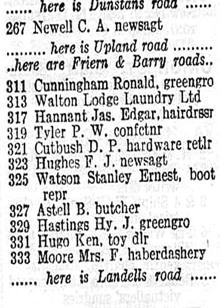 underhill road shops 1964 adj